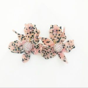 LELE SADOUGHI | Crystal Lily Earrings Pink Leopard